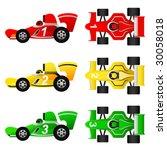 formula car set | Shutterstock .eps vector #30058018