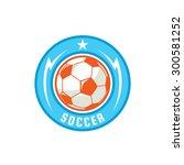 football badge logo template... | Shutterstock .eps vector #300581252