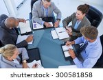 business colleagues discussing... | Shutterstock . vector #300581858