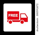 free delivery icon. this flat... | Shutterstock . vector #300591872