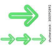 green line arrow logo design set