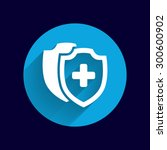 vector medical shield icon... | Shutterstock .eps vector #300600902