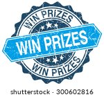 win prizes blue round grunge... | Shutterstock .eps vector #300602816