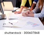 business  work. people in the... | Shutterstock . vector #300607868