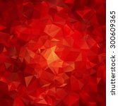 red abstract polygon pattern... | Shutterstock .eps vector #300609365