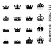 a set of 16 various elegant... | Shutterstock .eps vector #300614516