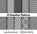 set of 10 abstract patterns.... | Shutterstock .eps vector #300614696