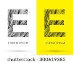 e  font   hair line  graphic... | Shutterstock .eps vector #300619382