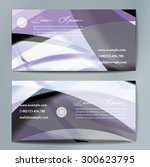 stylish business cards with... | Shutterstock .eps vector #300623795
