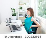 image of a young woman having a ...   Shutterstock . vector #300633995