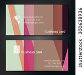 stylish business cards with... | Shutterstock .eps vector #300638936