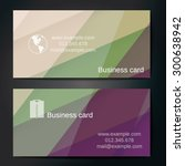 stylish business cards with... | Shutterstock .eps vector #300638942