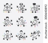 professions line infographic... | Shutterstock .eps vector #300640892