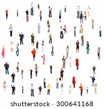 many colleagues united company  | Shutterstock . vector #300641168