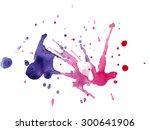 Watercolor Blot Purple Magenta...