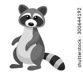 cute raccoon cartoon | Shutterstock .eps vector #300644192