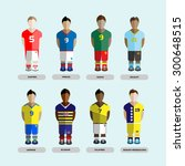 football club soccer players... | Shutterstock .eps vector #300648515