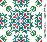 seamless pattern in ethnic... | Shutterstock .eps vector #300649646