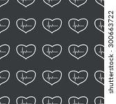 white image of cardiogram in...   Shutterstock .eps vector #300663722