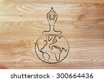yoga  poses and meditation ... | Shutterstock . vector #300664436