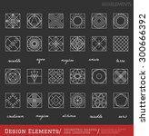 set of geometric shapes. trendy ... | Shutterstock .eps vector #300666392