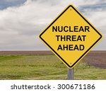 caution sign   nuclear threat... | Shutterstock . vector #300671186