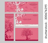 set of two business card and... | Shutterstock .eps vector #300676295