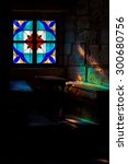 stained glass window with... | Shutterstock . vector #300680756