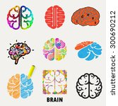 collection of brain  creation... | Shutterstock .eps vector #300690212