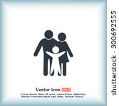 happy family icon in simple... | Shutterstock .eps vector #300692555