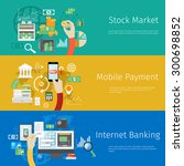 set of payment concept web... | Shutterstock .eps vector #300698852