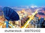 picture of parabolic satellite... | Shutterstock . vector #300701432