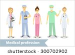 medical profession. doctors and ... | Shutterstock .eps vector #300702902