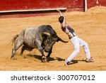 competition with fighting bulls ...   Shutterstock . vector #300707012