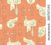 vintage equine background with... | Shutterstock .eps vector #300707192