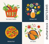 cooking infographic. menu cover ...   Shutterstock .eps vector #300715445
