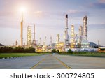 oil refinery factory in the... | Shutterstock . vector #300724805