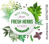 Fresh Herbs Store Emblem   Eas...