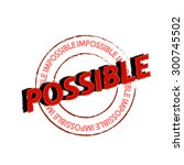 possible red stamp text on... | Shutterstock .eps vector #300745502