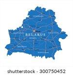 belarus map | Shutterstock .eps vector #300750452