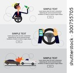 car crash concept  infographics ... | Shutterstock .eps vector #300755705