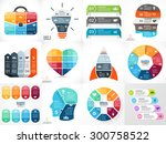 creative vector arrows teamwork ... | Shutterstock .eps vector #300758522