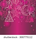 christmas wallpaper with... | Shutterstock .eps vector #300775112