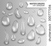 Drops Of Water On A Transparen...