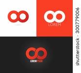 infinity symbol logo design... | Shutterstock .eps vector #300779006
