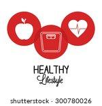 healthy life design  vector... | Shutterstock .eps vector #300780026