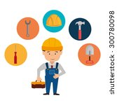 under construction design ... | Shutterstock .eps vector #300780098