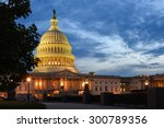 the capitol building at night... | Shutterstock . vector #300789356