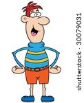 big nose guy cartoon character... | Shutterstock .eps vector #30079031