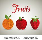 fruits digital design  vector... | Shutterstock .eps vector #300790646